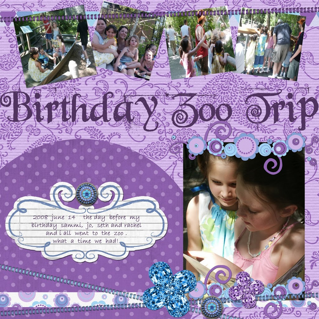 Sarah's New Digital Layout…Zoo Day!