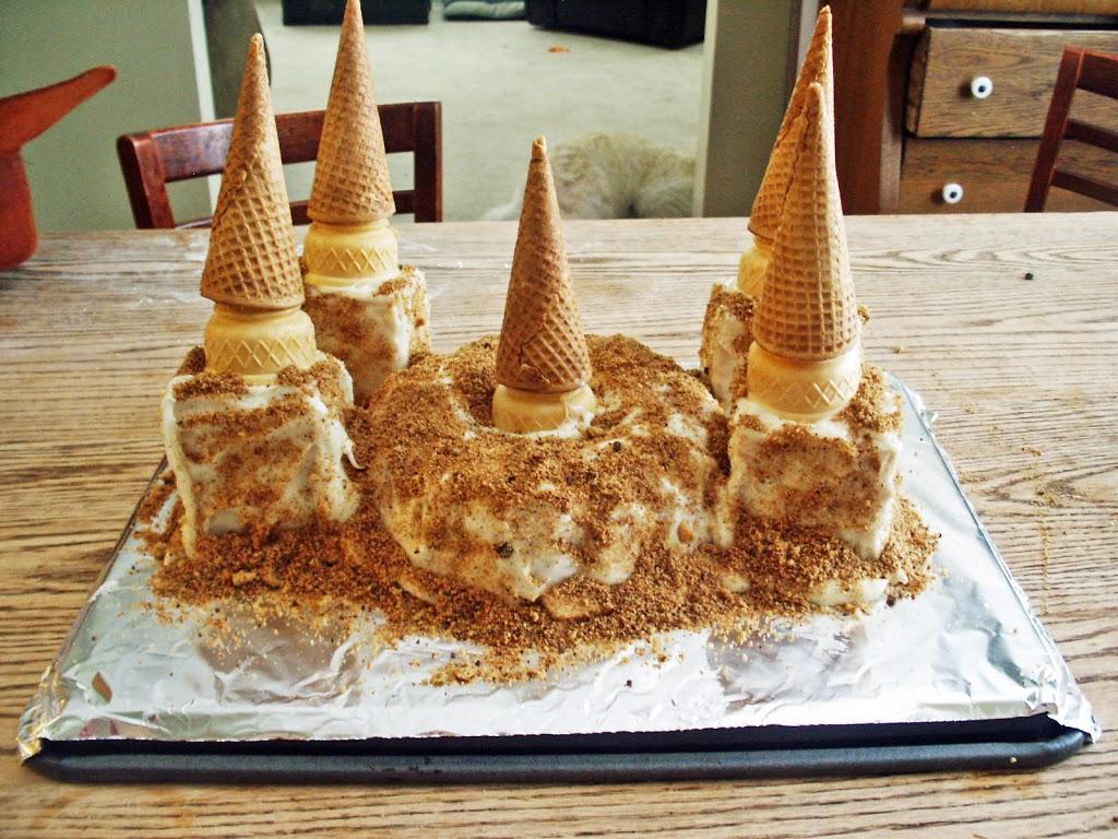 Sneak Peak:  Gluten Free  Sand Castle Cake!