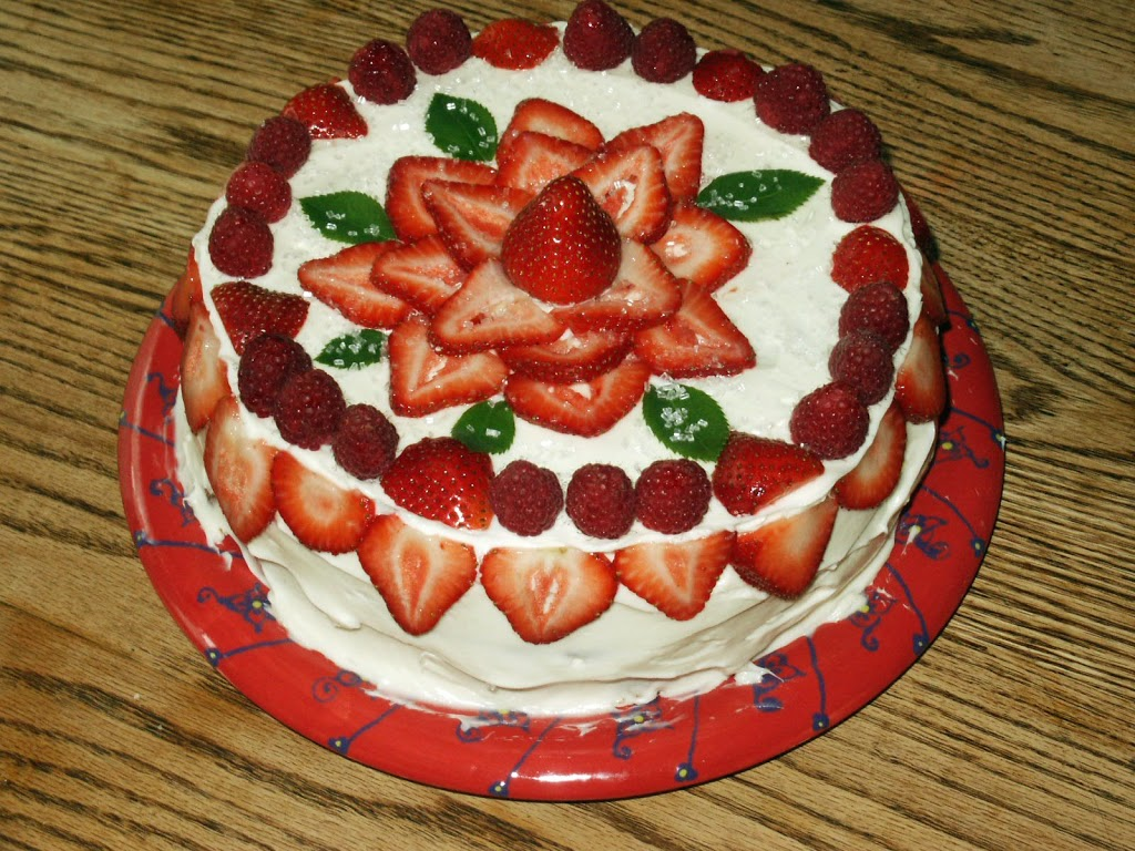 Gluten-Free Strawberry Birthday Cake