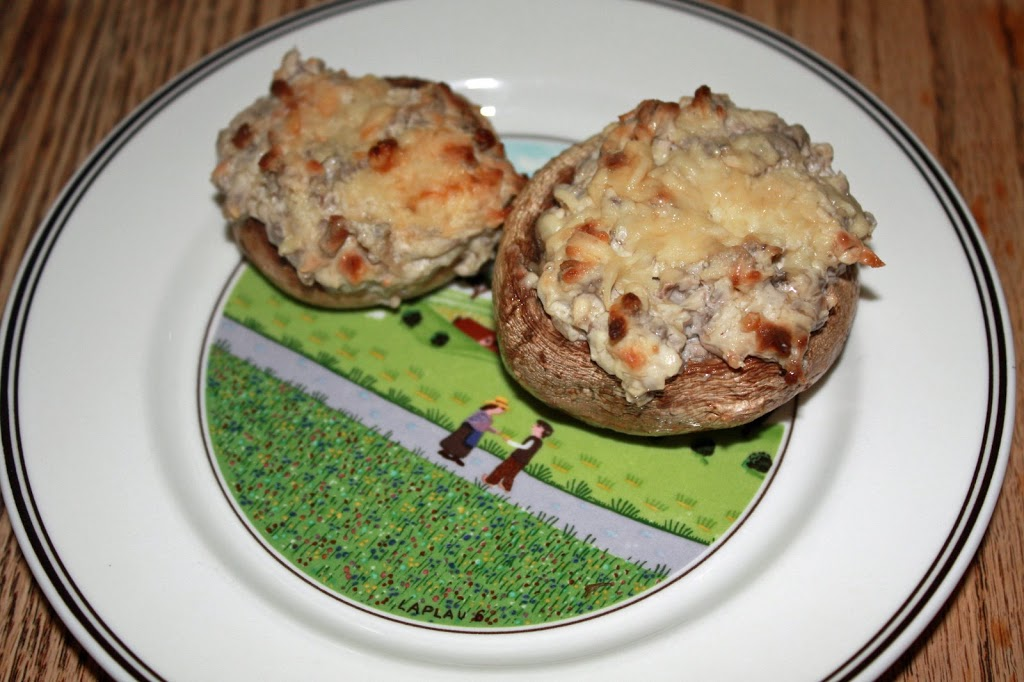 Gluten Free Stuffed Mushrooms (with option for dairy free)