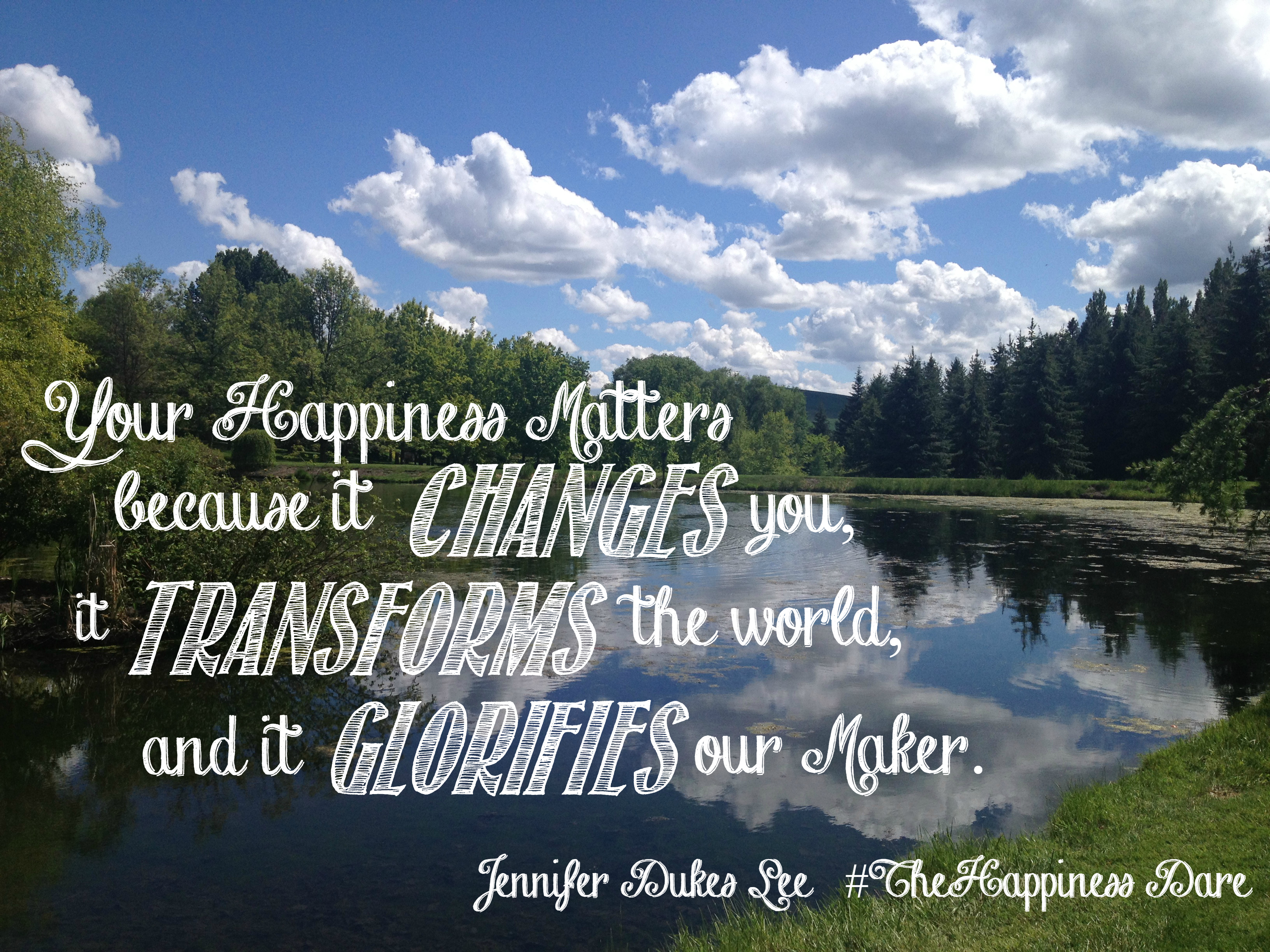 Does God Care about Our Happiness? A Book Review of The Happiness Dare by Jennifer Dukes Lee